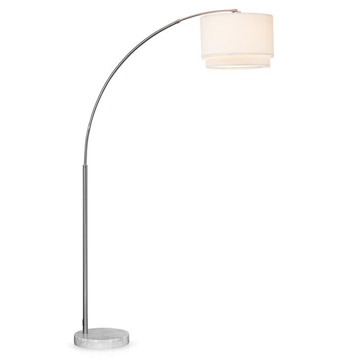 Hayden Double Shade 81 Arched Floor Lamp