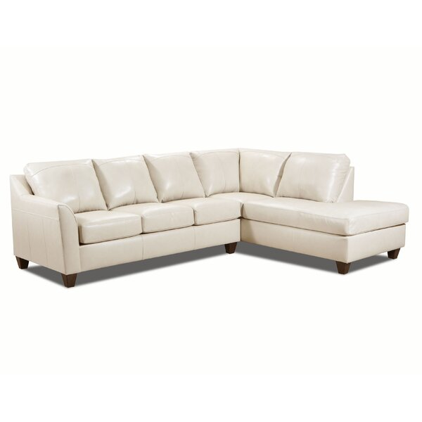 Thy Right Hand Facing Leather Sectional By Red Barrel Studio