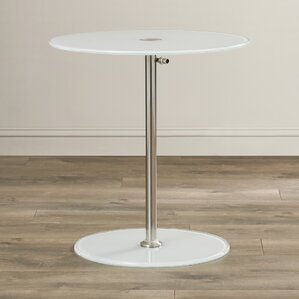 wilbert round glass side table