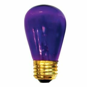 11W Transparent Purple String Replacement Light Bulb (Set of 28) by Bulbrite Industries