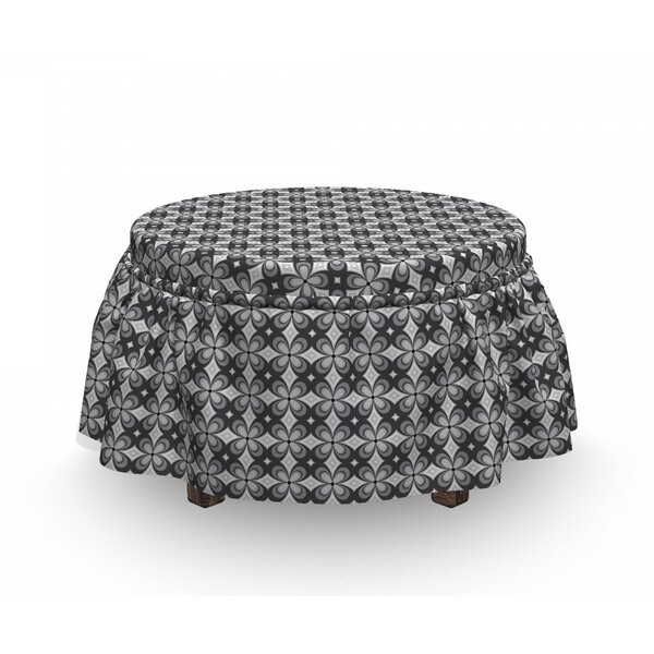 Floral Motifs Ottoman Slipcover (Set Of 2) By East Urban Home