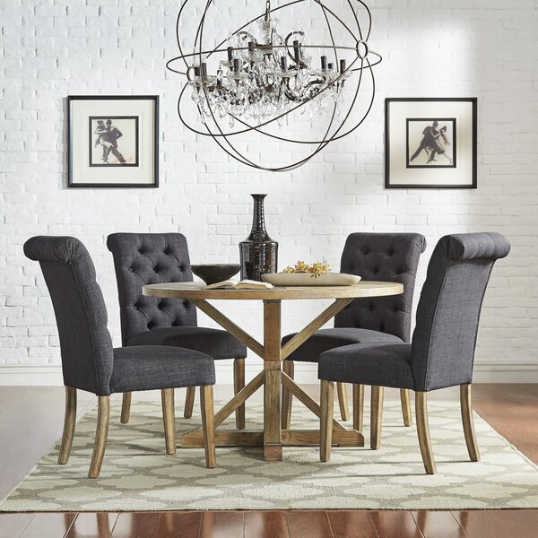 Peralta Rustic X-Base 5 Piece Dining Set By Lark Manor Fresh