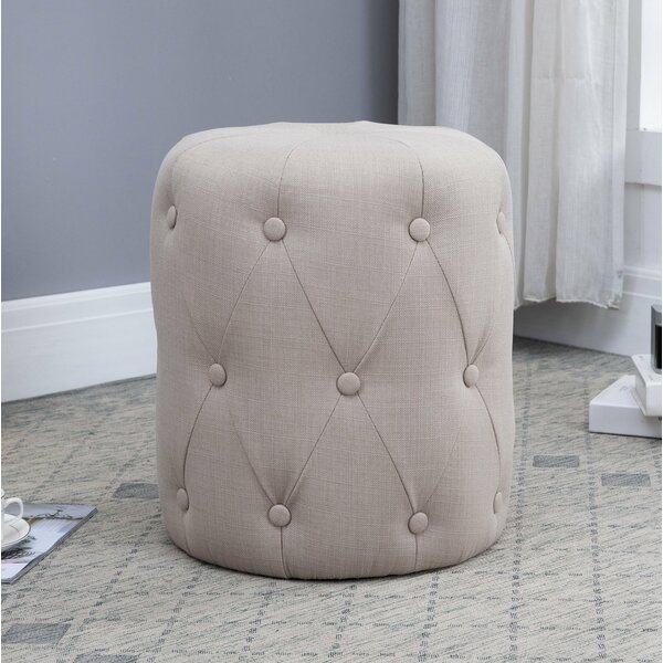 Quartz Large Round Fabric Stool by Fairmont Park