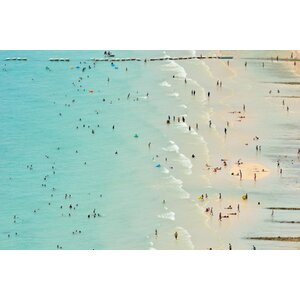 Fun at The Beach Photographic Print on Wrapped Canvas by Marmont Hill