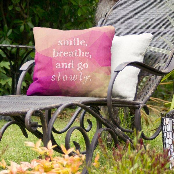 Go Slowly Indoor/Outdoor Throw Pillow