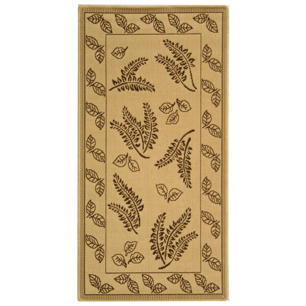 Laurel Natural/Brown Outdoor Rug by August Grove