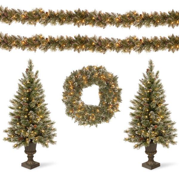Glittery Bristle Decorating Garland and Swag Kit Assortment by Darby Home Co
