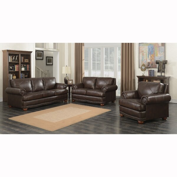 Ruffner 3 Piece Leather Living Room Set By Canora Grey