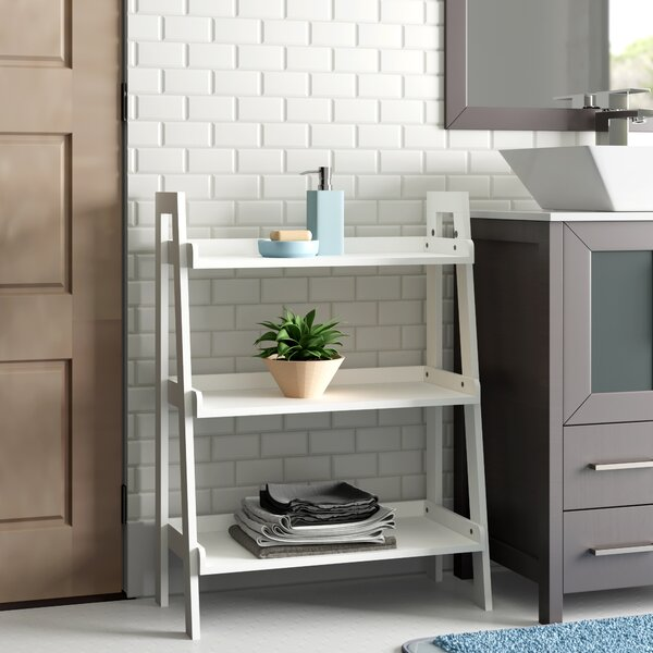 Hoschton 24 W x 32.5 H x 11.5 D Free-Standing Bathroom Shelf