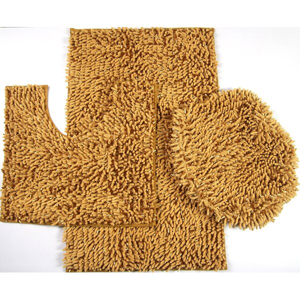 Van Wyck 3 Piece Mix Chenille Bath Mat Set by Latitude Run