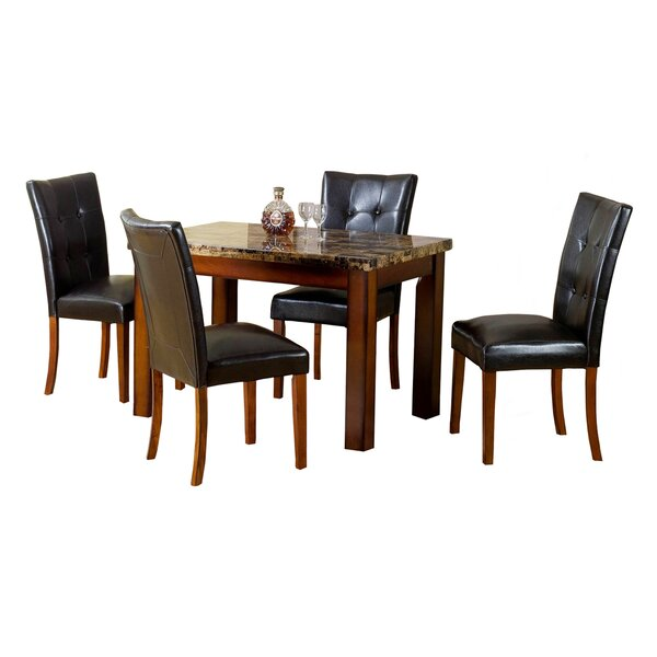 Aldama 5 Piece Dining Set by Hazelwood Home
