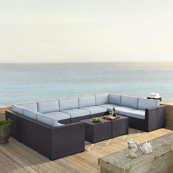 Seaton 7 Piece Sectional Seating Group with Cushions by Sol 72 Outdoor