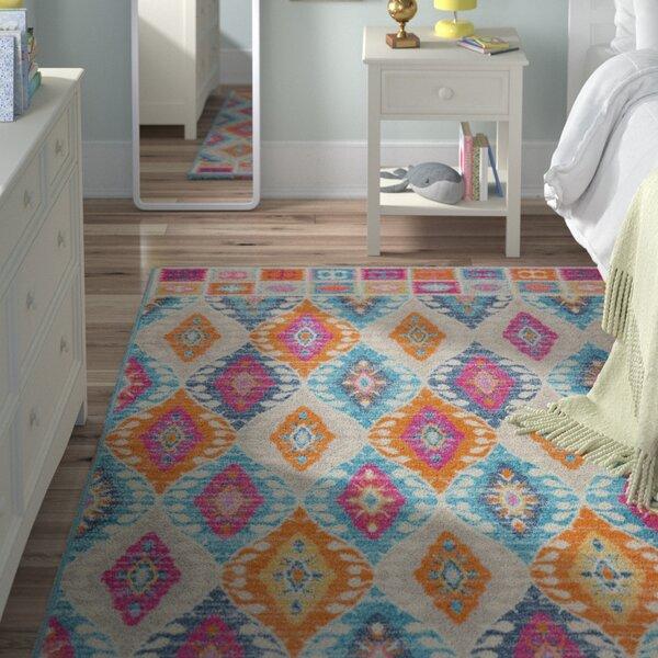 Shortwood Pink/Blue Indoor Area Rug by Viv + Rae