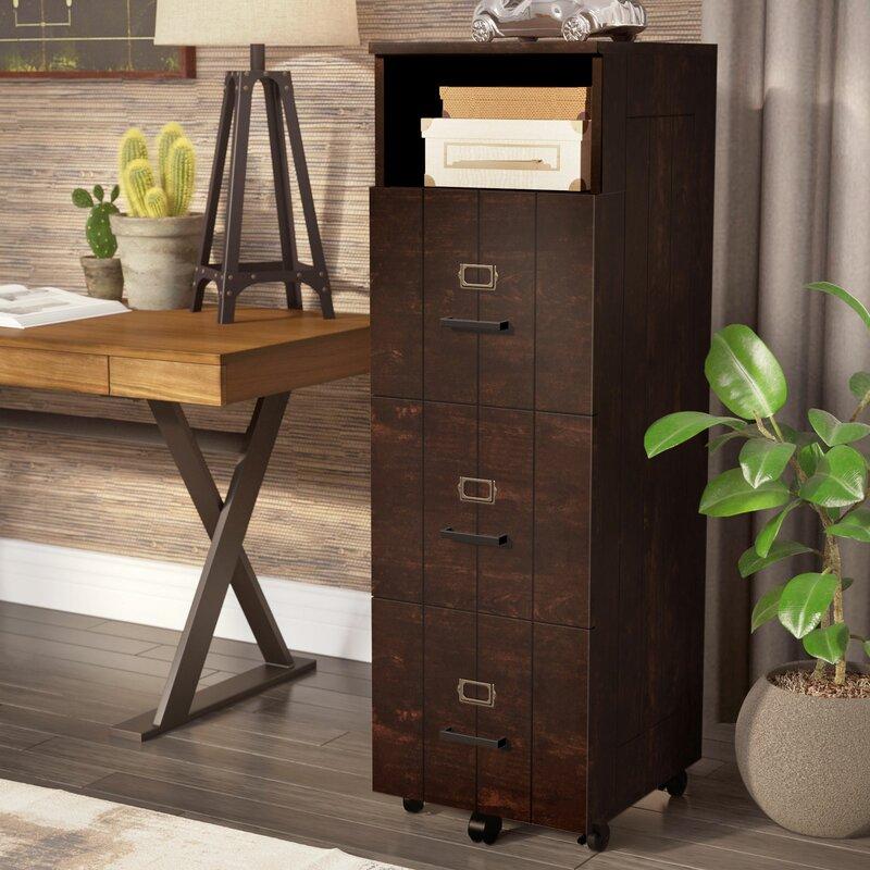Kaj Industrial 3 Drawer Vertical Filing Cabinet