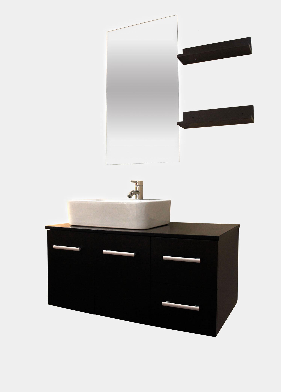 Kokols 36 Wall Mounted Single Bathroom Vanity Set With Mirror Wayfair