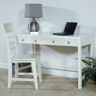Great deal Amanda Writing Desk and Chair Set ByMy Home Furnishings