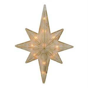 lighted glitter star of bethlehem christmas tree topper - Christmas Tree Topper Star