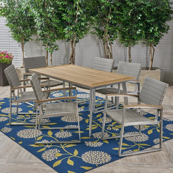 Matsumura 7 Piece Dining Set by Union Rustic