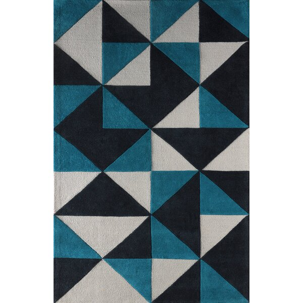 Lueras Hand-Tufted Gray/Blue Area Rug by Brayden Studio
