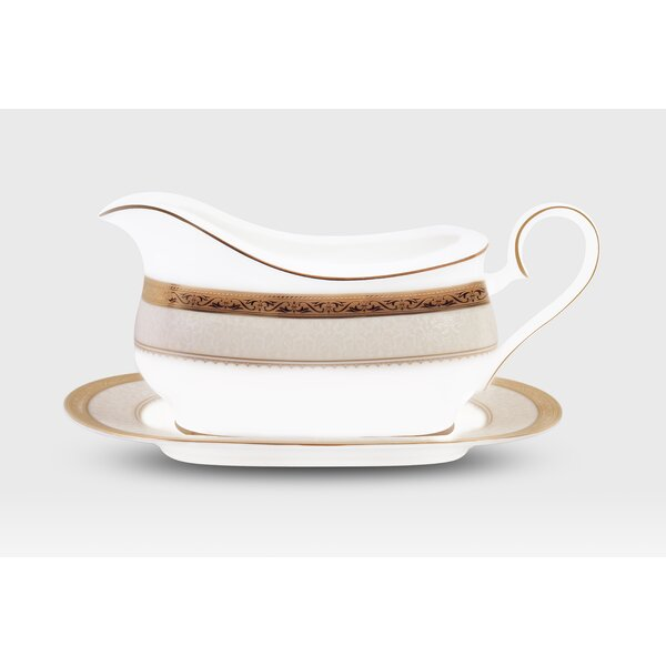 Odessa Gravy Boat with Tray by Noritake