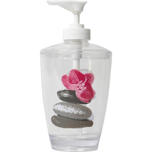 Spa Clear Acrylic Printed Bathroom Soap Dispenser by Evideco
