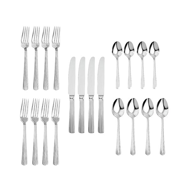 Gaudet 20-Piece 18/10 Stainless Steel Flatware Set by Ebern Designs