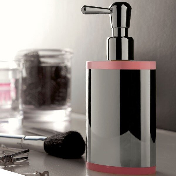 Kor Free Standing Round Plexiglass Liquid Soap Dispenser by Toscanaluce by Nameeks
