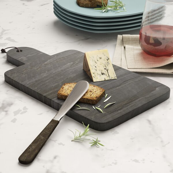 Gilberton Small Marble Paddle Serving Board by Mint Pantry