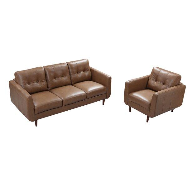 Chewton Mendip Leather Configurable Living Room Set By Latitude Run