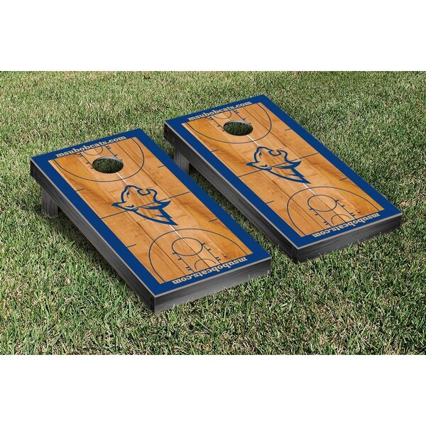 NCAA Basketball Court Cornhole by Victory Tailgate