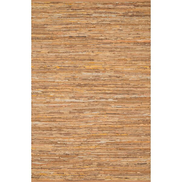 Kirkley Hand-Woven Tan Area Rug by Charlton Home
