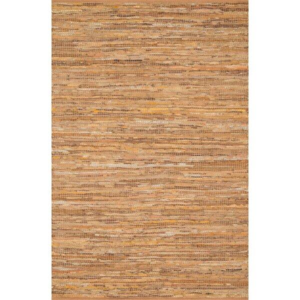 Kirkley Hand-Woven Tan Area Rug by Charlton Home