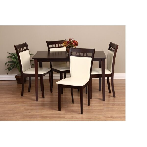 Shirlyn 5 Piece Solid Wood Dining Set by Warehouse of Tiffany