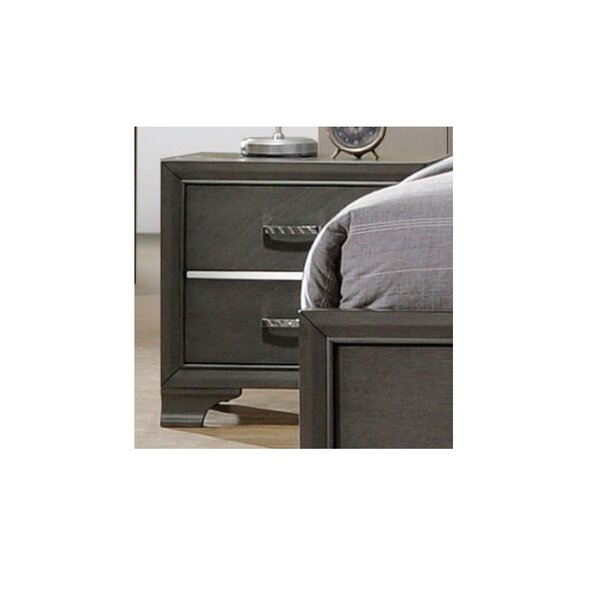 Alexandro 2 Drawer Nightstand by Ebern Designs