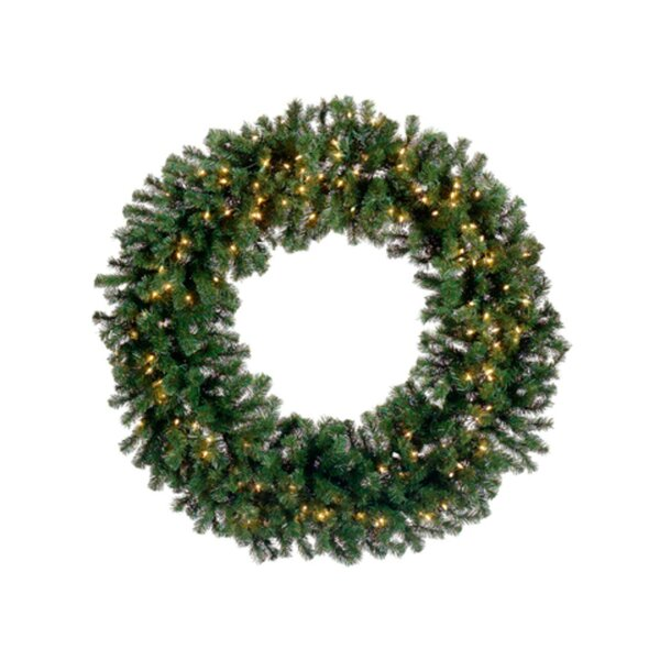 Deluxe Windsor Pine Artificial Christmas Wreath with Lights by Tori Home