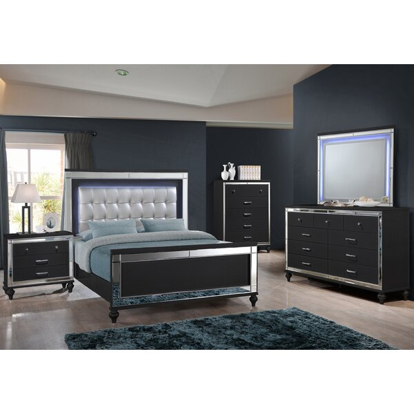 Maplewood Queen Sleigh 5 Piece Bedroom Set By Rosdorf Park