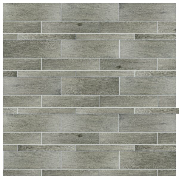 Savona 8 x 26 Porcelain Wood Tile in Gris by EliteTile