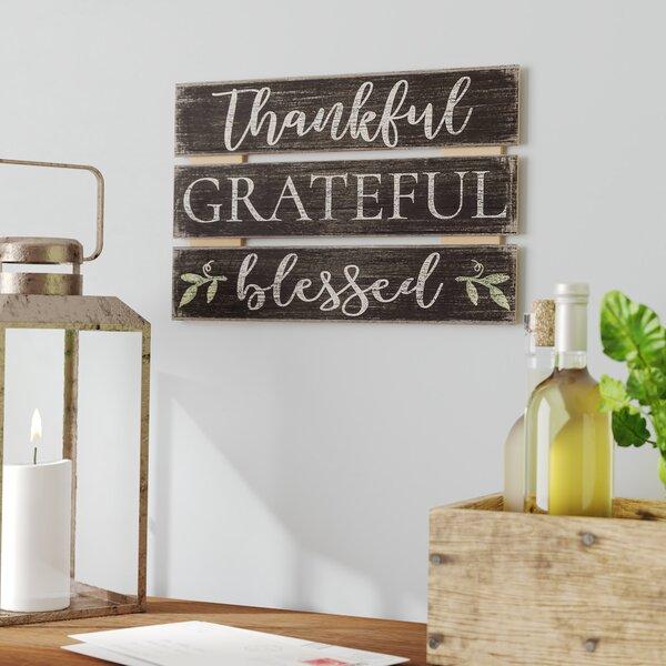 Gather 3D Thanksgiving Thankful Grateful Indoor Outdoor Sign