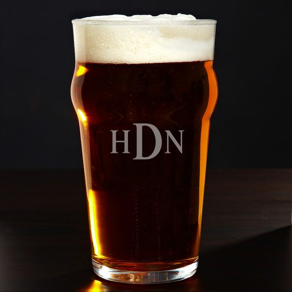 Personalized English 20 oz. Pub Glass by Home Wet Bar