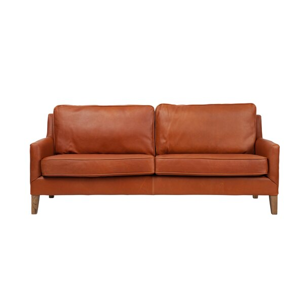 Schlegel Apartment Leather Loveseat By Foundry Select