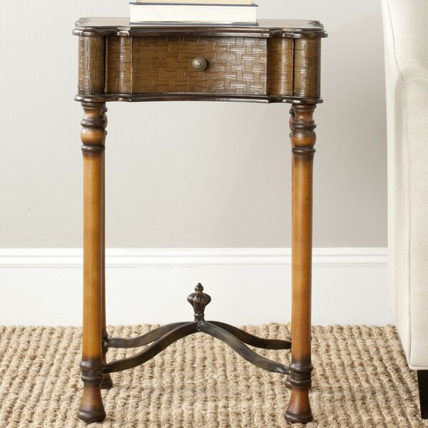 Denise 1 Drawer End Table by Safavieh