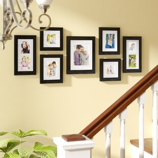 Traditional Brown 10x12 Photo  Picture Frame  Mount 7.75x9.75 Hang
