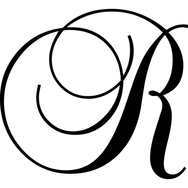 Enchantingly elegant letter r wall decal reviews wayfair thecheapjerseys Image collections