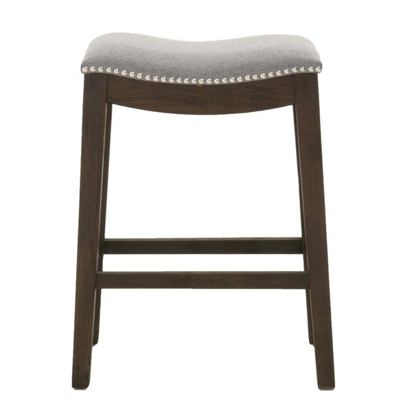 Edgewood Elevated Upholstered Bar Stool by Ophelia & Co.