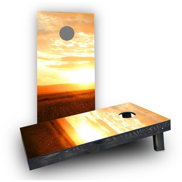 Sunset Cornhole Boards (Set of 2) by Custom Cornhole Boards