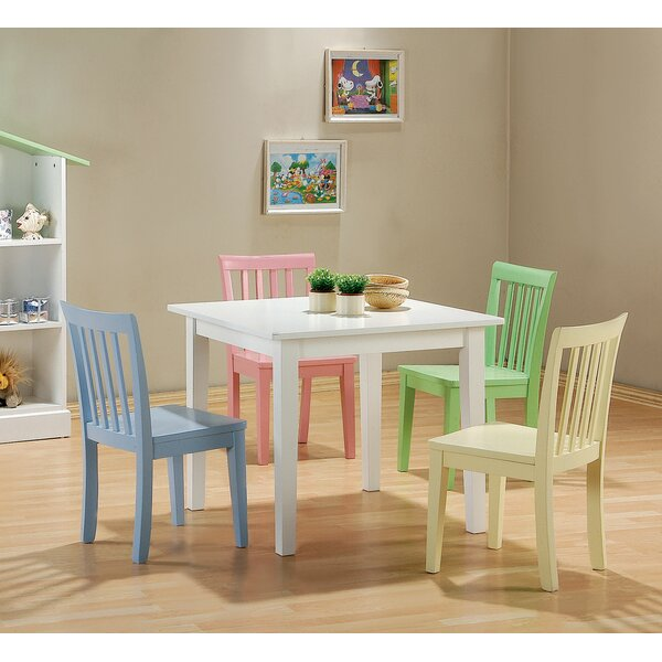 New Canaan Youth 5 Piece Dining Set by Harriet Bee