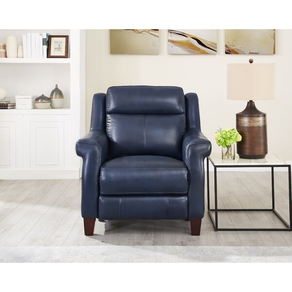 Arielle Leather Power Recliner [Red Barrel Studio]