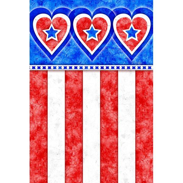 Hearts and Stripes Garden flag by Toland Home Garden