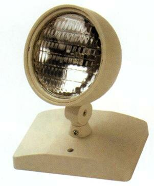 Round Head Remote Emergency Light By Morris Products.