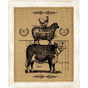 Farmhouse Animals Framed Vintage Advertisement by Laurel Foundry Modern Farmhouse